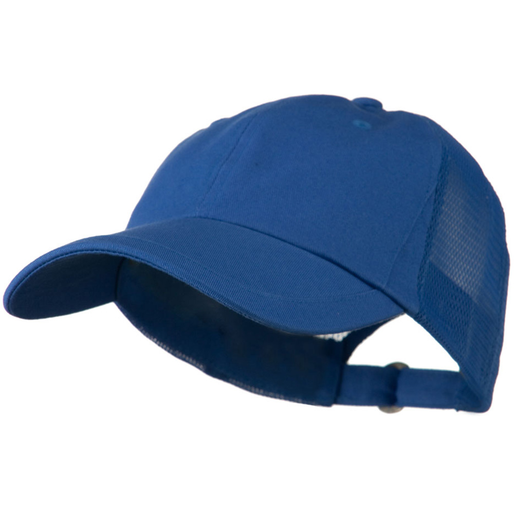 Low Profile Cotton Twill Mesh Cap - Royal - Hats and Caps Online Shop - Hip Head Gear