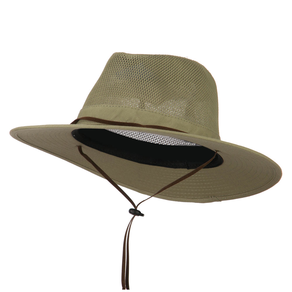 Cotton Twill Mesh Safari Hat - Khaki - Hats and Caps Online Shop - Hip Head Gear
