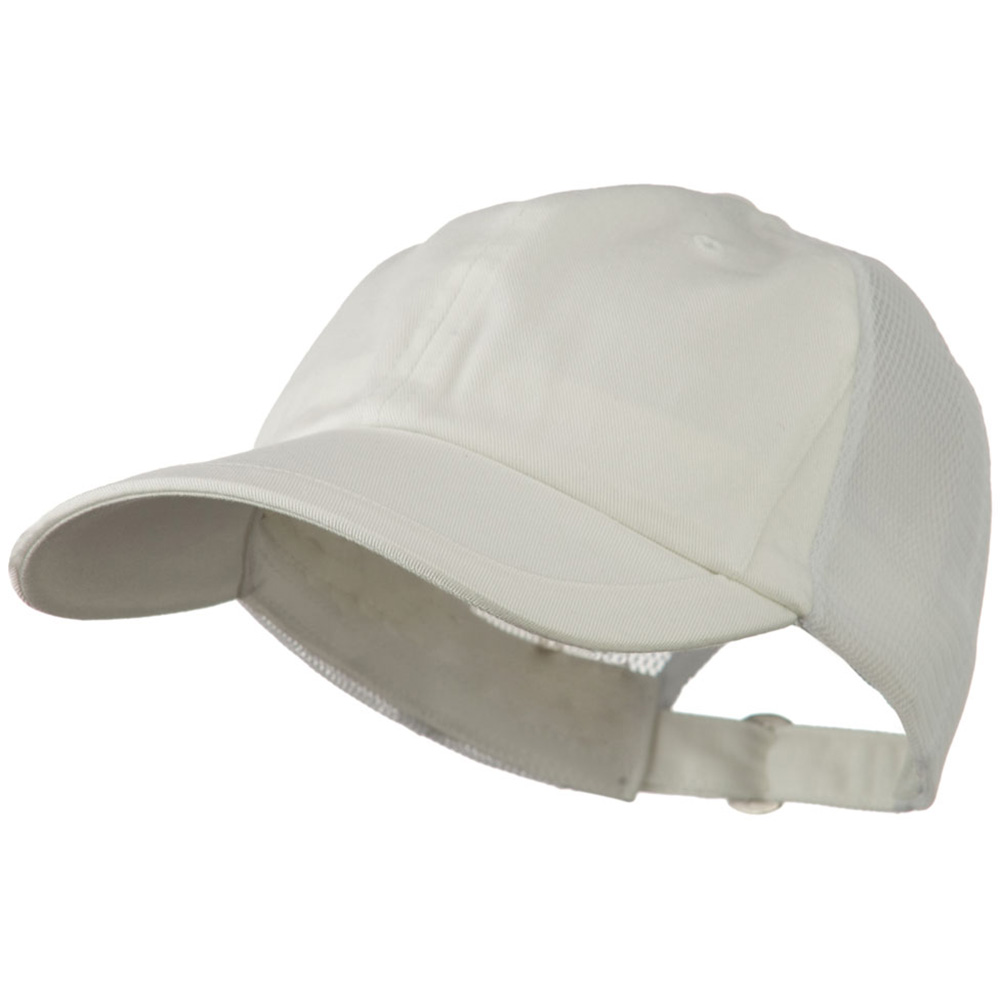 Low Profile Cotton Twill Mesh Cap - White - Hats and Caps Online Shop - Hip Head Gear