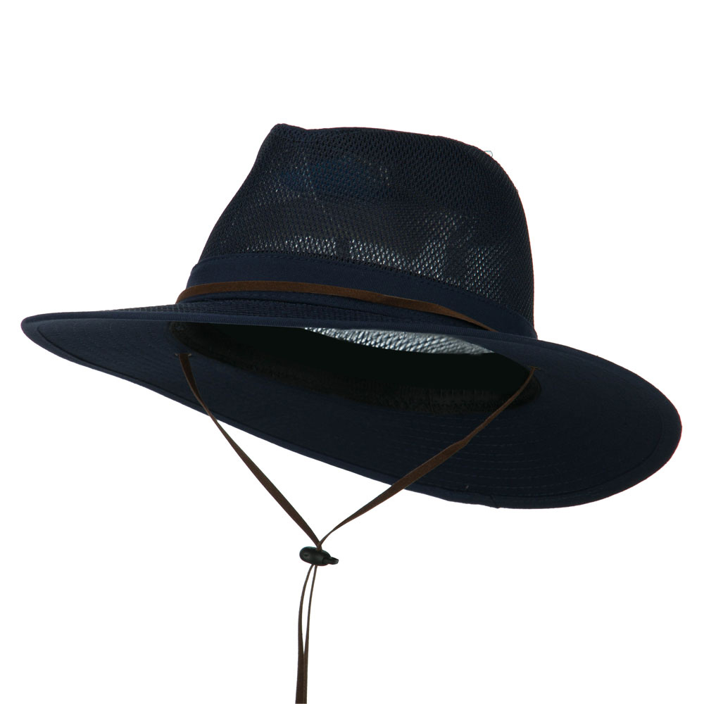 Cotton Twill Mesh Safari Hat - Navy - Hats and Caps Online Shop - Hip Head Gear