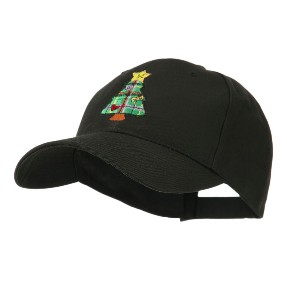 Christmas Tree with Decoration Embroidered Cap - Black - Hats and Caps Online Shop - Hip Head Gear