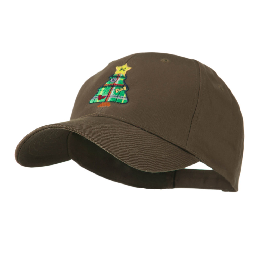 Christmas Tree with Decoration Embroidered Cap - Brown - Hats and Caps Online Shop - Hip Head Gear