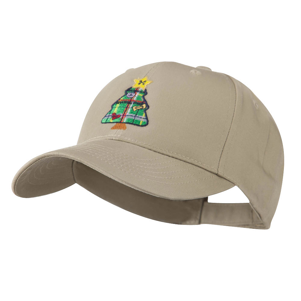 Christmas Tree with Decoration Embroidered Cap - Khaki - Hats and Caps Online Shop - Hip Head Gear