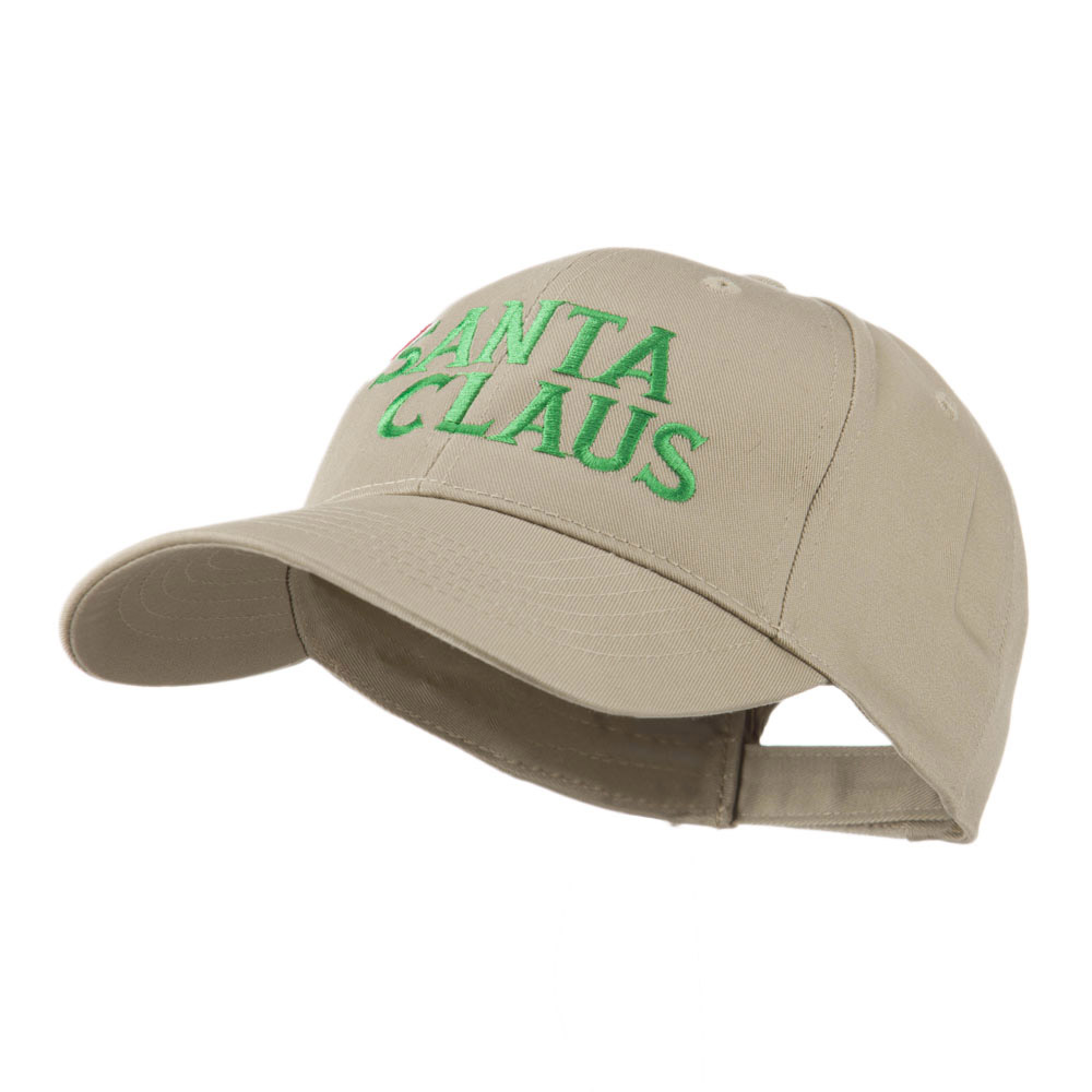 Christmas Hat with Santa Claus Embroidered Cap - Khaki - Hats and Caps Online Shop - Hip Head Gear