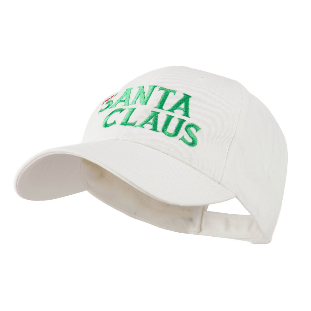 Christmas Hat with Santa Claus Embroidered Cap - White - Hats and Caps Online Shop - Hip Head Gear