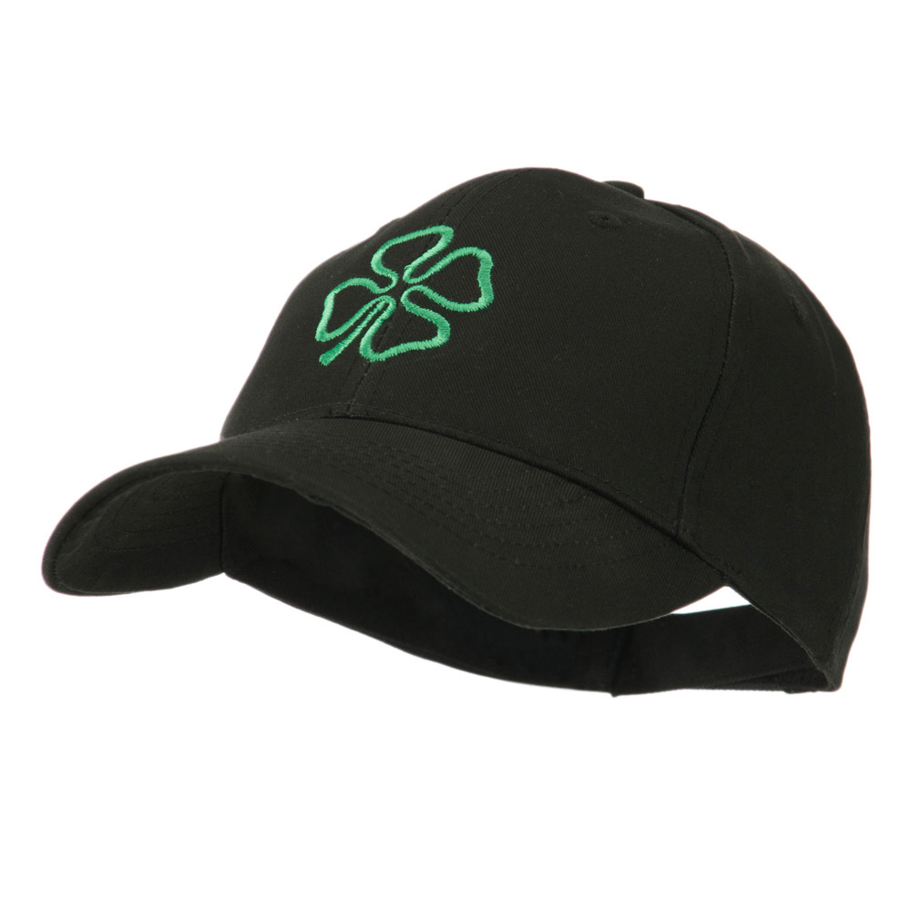4 Leaf Clover Holiday Embroidered Cap - Black - Hats and Caps Online Shop - Hip Head Gear