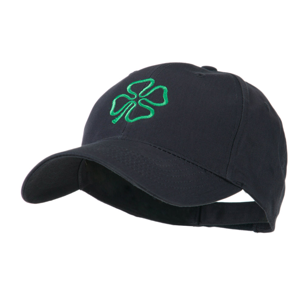 4 Leaf Clover Holiday Embroidered Cap - Navy - Hats and Caps Online Shop - Hip Head Gear