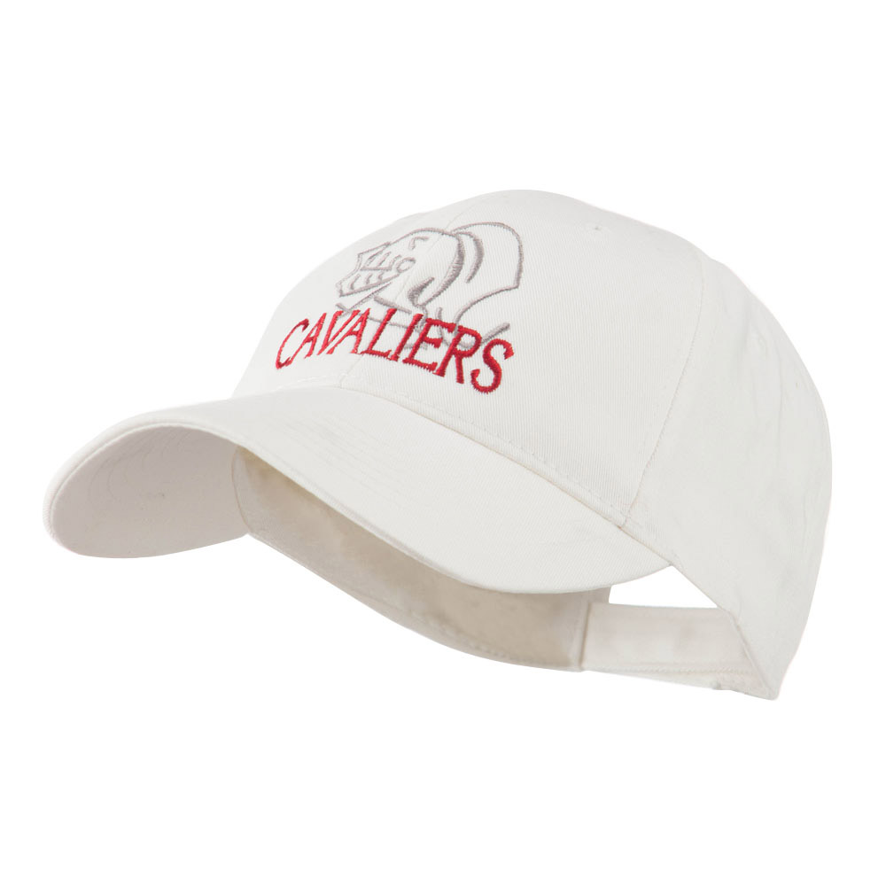 Cavaliers Mascot Embroidered Cap - White - Hats and Caps Online Shop - Hip Head Gear