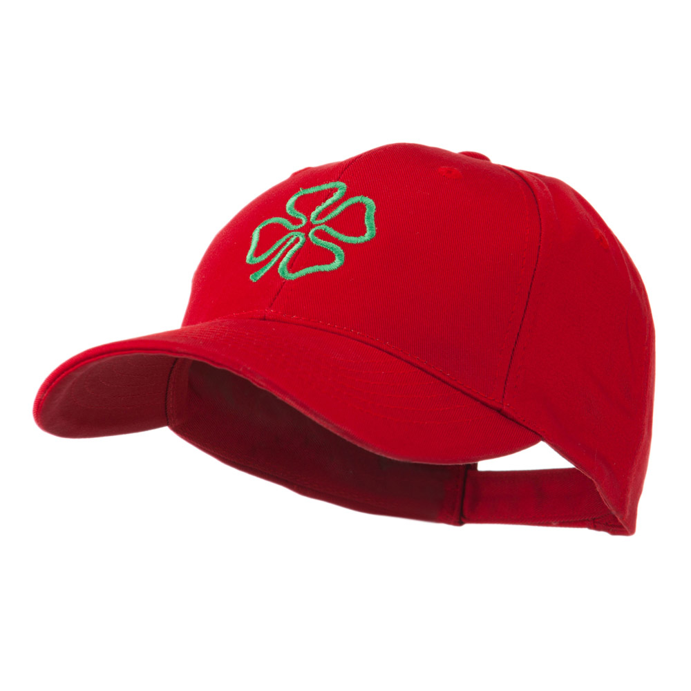 4 Leaf Clover Holiday Embroidered Cap - Red - Hats and Caps Online Shop - Hip Head Gear
