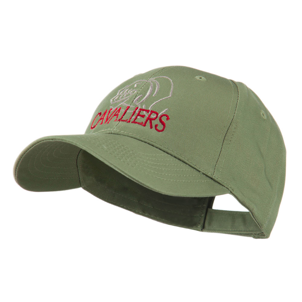 Cavaliers Mascot Embroidered Cap - Olive - Hats and Caps Online Shop - Hip Head Gear