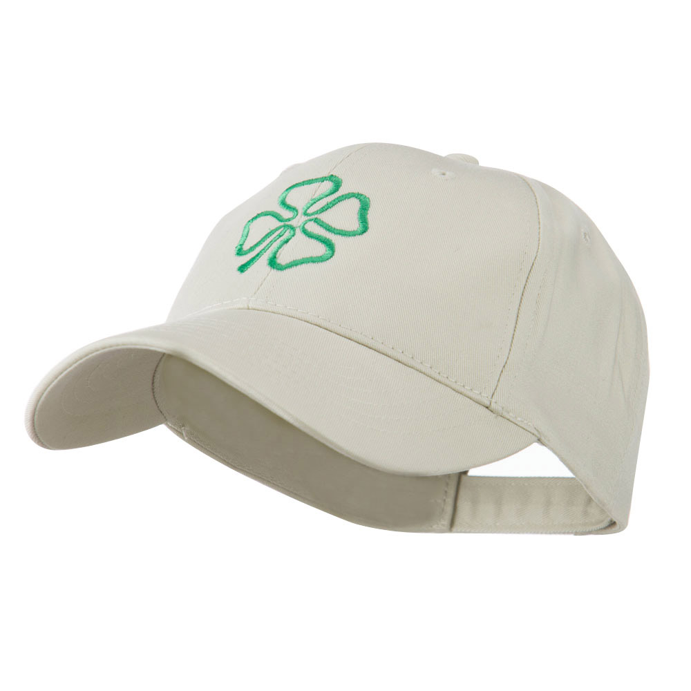 4 Leaf Clover Holiday Embroidered Cap - Stone - Hats and Caps Online Shop - Hip Head Gear