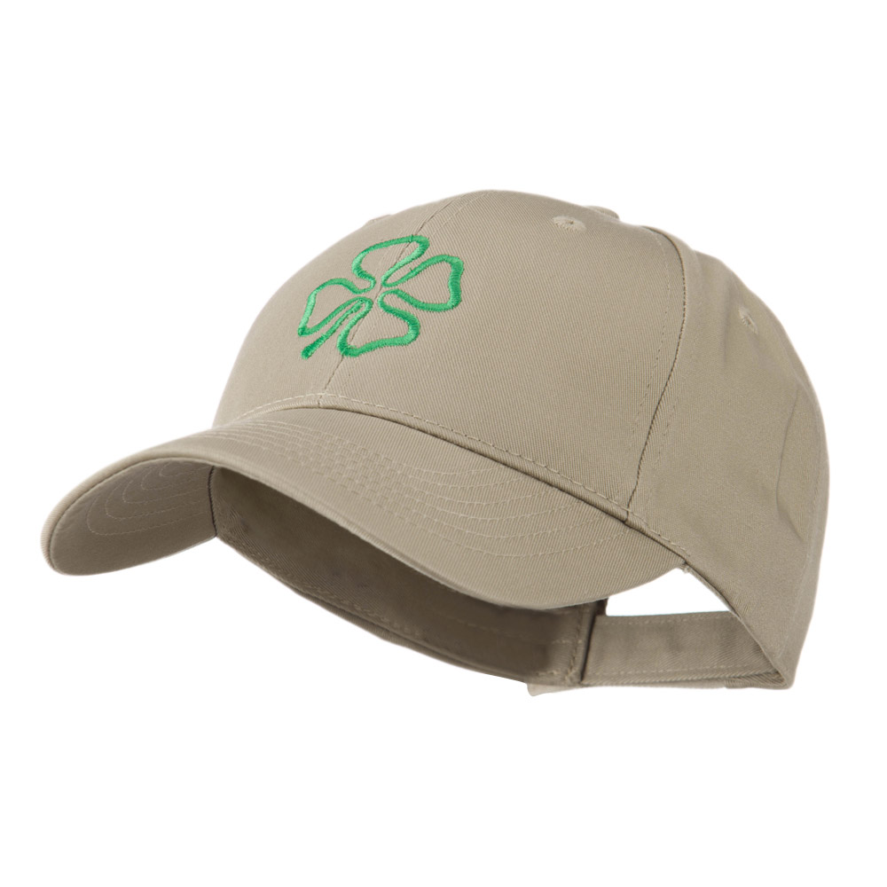 4 Leaf Clover Holiday Embroidered Cap - Khaki - Hats and Caps Online Shop - Hip Head Gear