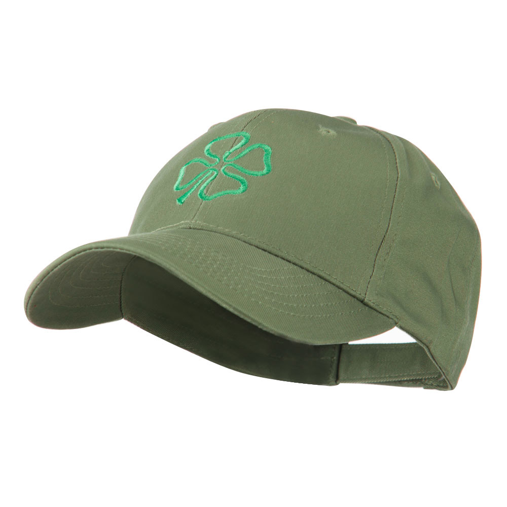 4 Leaf Clover Holiday Embroidered Cap - Olive - Hats and Caps Online Shop - Hip Head Gear