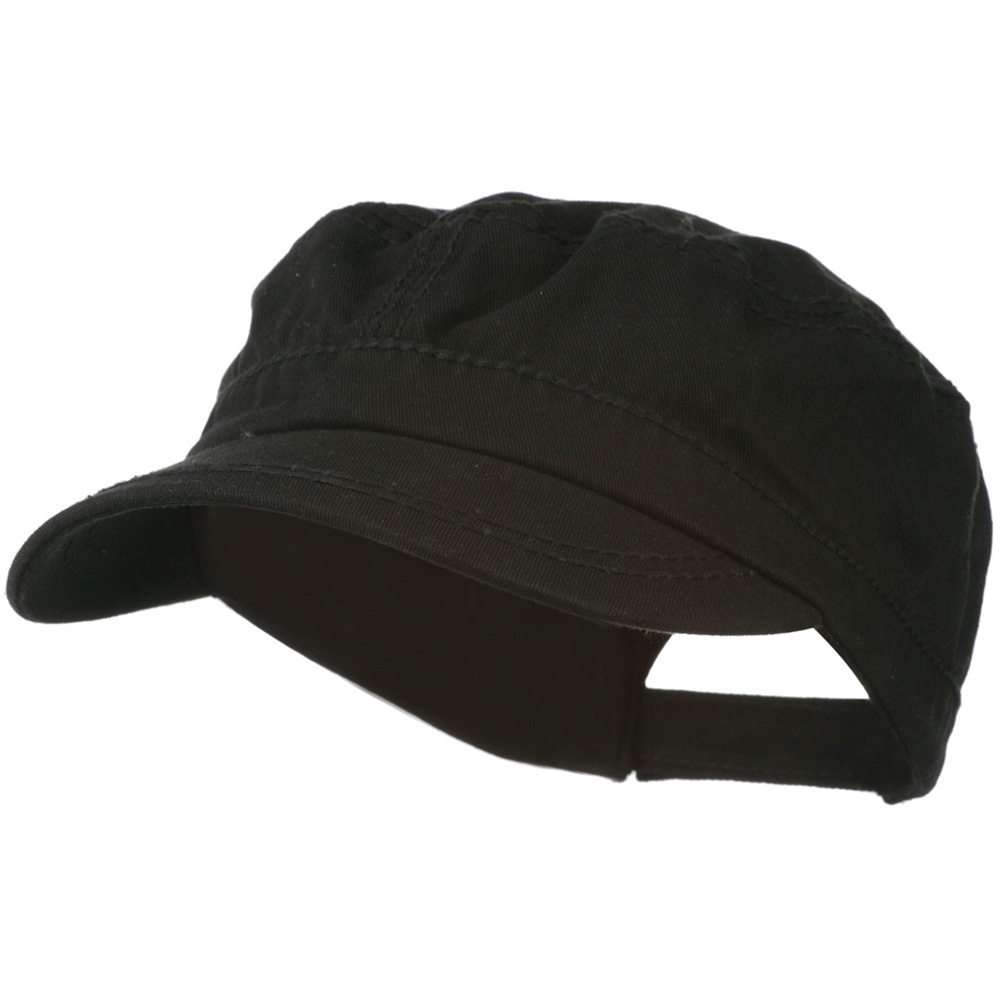 Colorful Washed Military Cap - Black - Hats and Caps Online Shop - Hip Head Gear