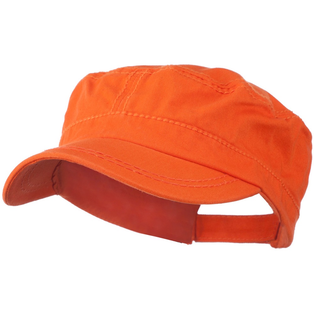 Colorful Washed Military Cap - Orange - Hats and Caps Online Shop - Hip Head Gear