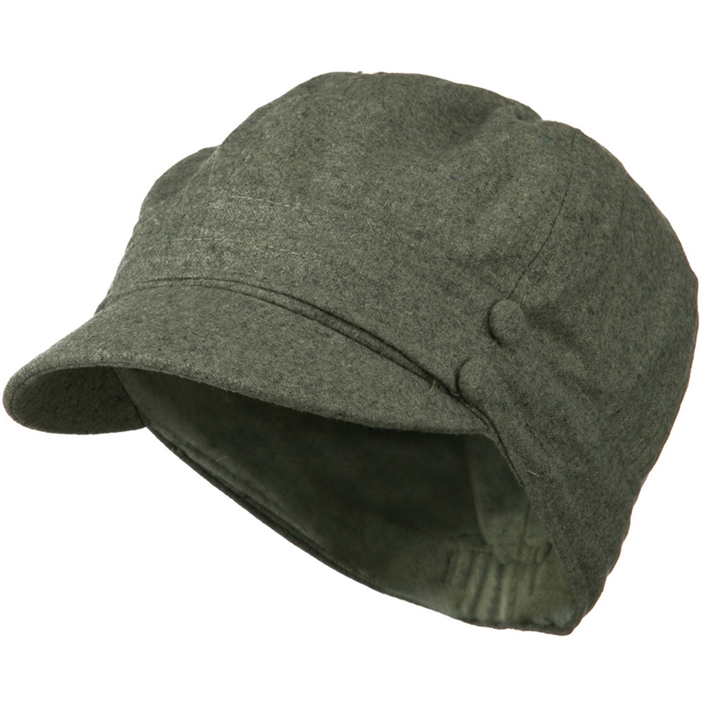 Cory Wool 2 Button Newsboy Hat - Grey - Hats and Caps Online Shop - Hip Head Gear