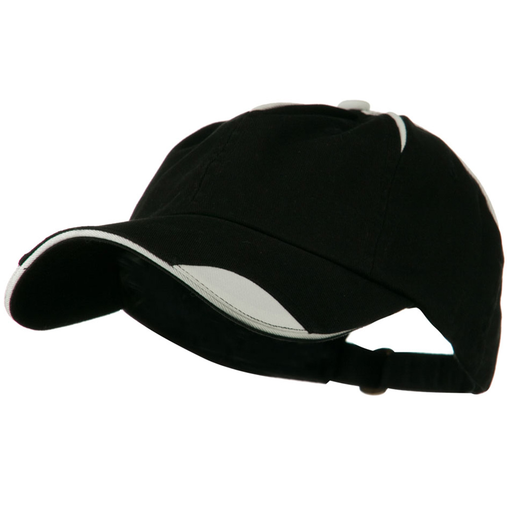 Low Profile Unstructured Cotton Washed Cap - Black White - Hats and Caps Online Shop - Hip Head Gear