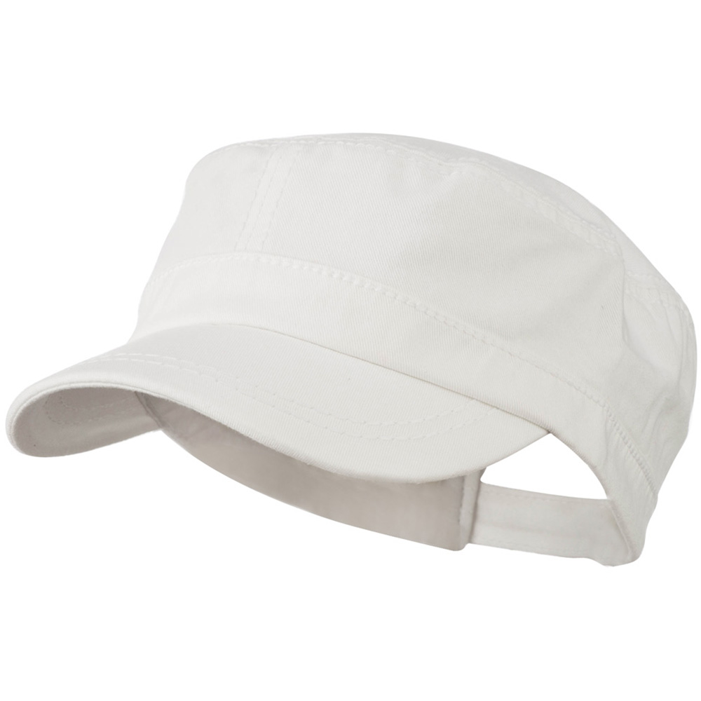 Colorful Washed Military Cap - White - Hats and Caps Online Shop - Hip Head Gear