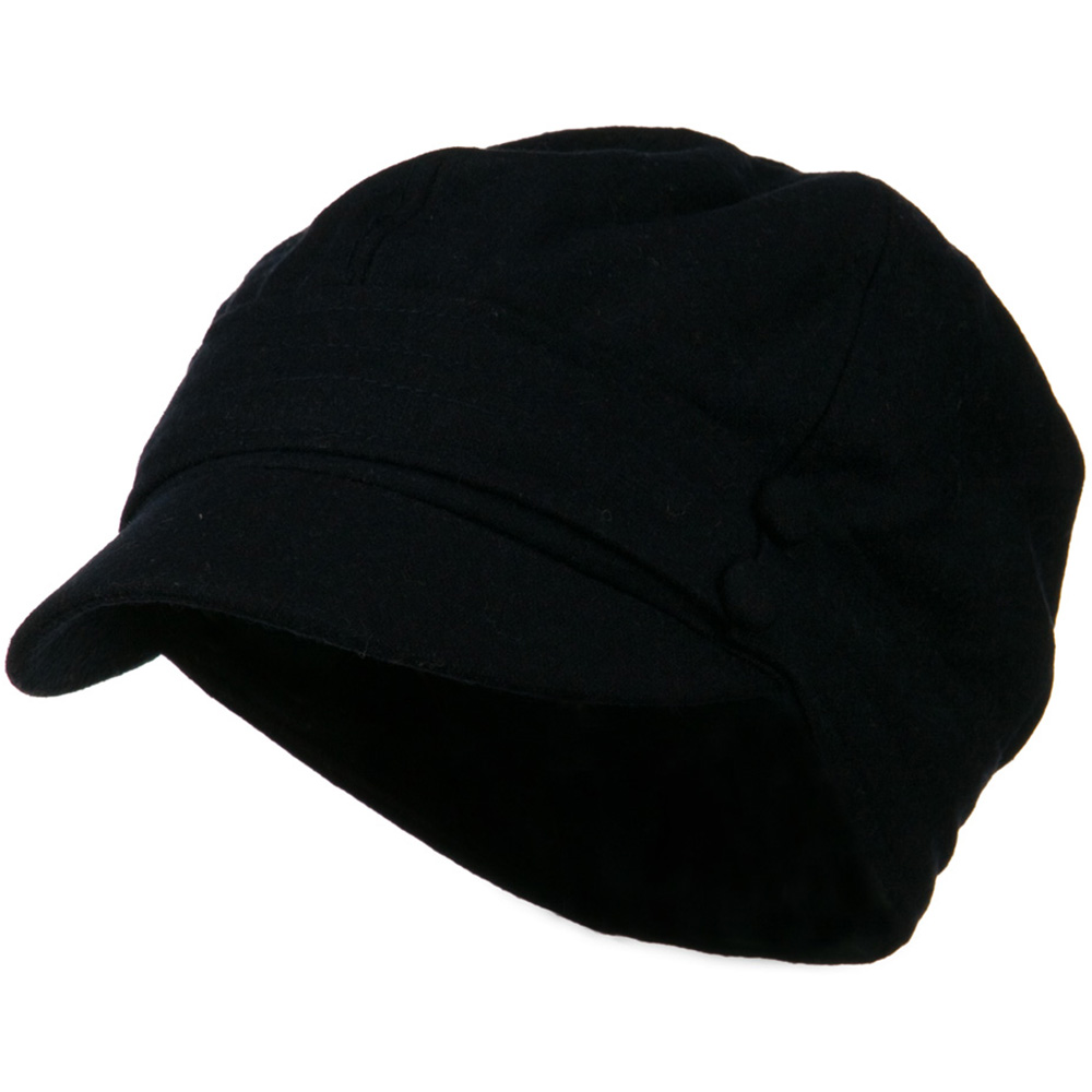 Cory Wool 2 Button Newsboy Hat - Navy - Hats and Caps Online Shop - Hip Head Gear
