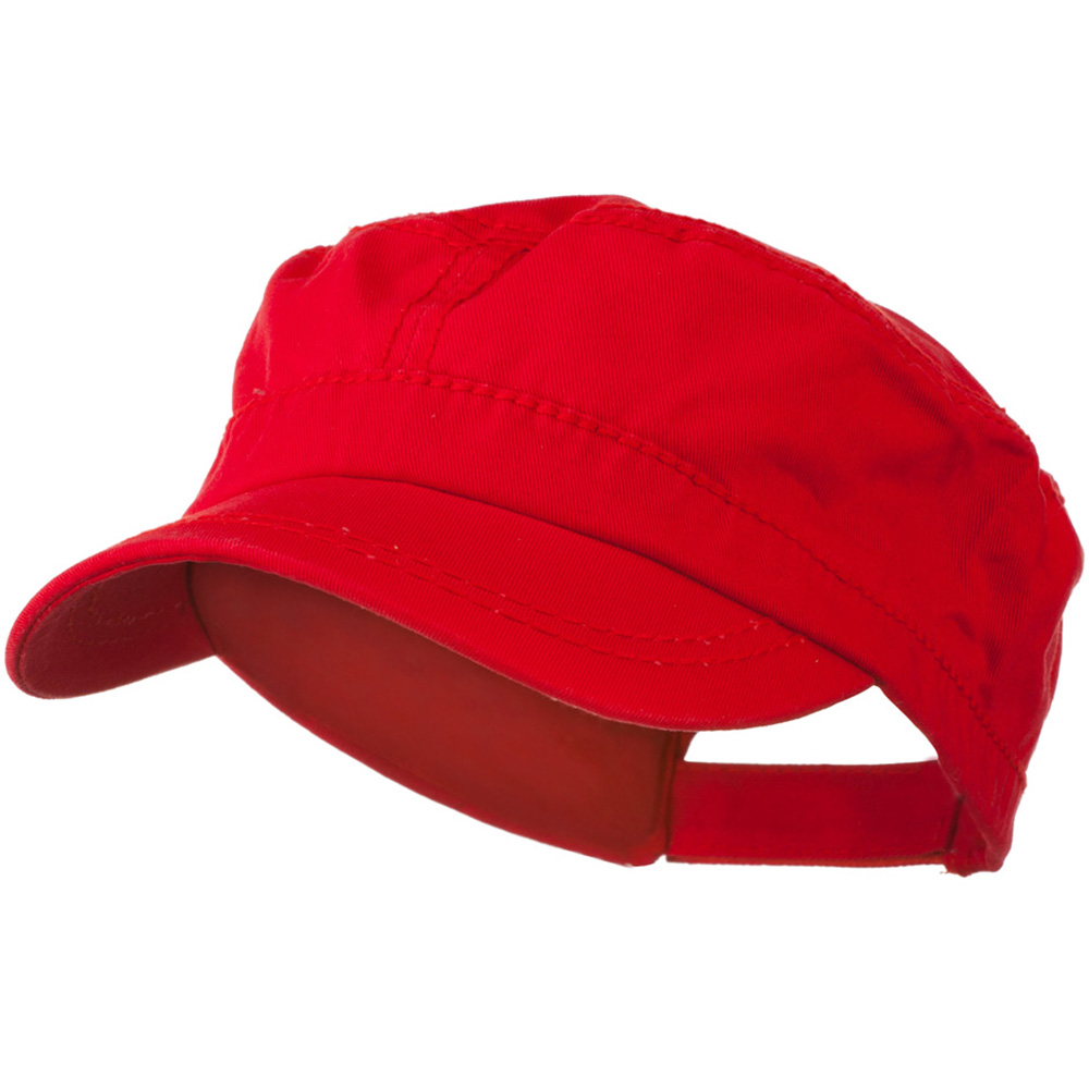 Colorful Washed Military Cap - Red - Hats and Caps Online Shop - Hip Head Gear