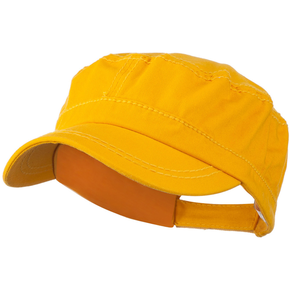 Colorful Washed Military Cap - Yellow - Hats and Caps Online Shop - Hip Head Gear