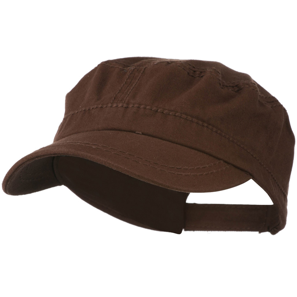 Colorful Washed Military Cap - Brown - Hats and Caps Online Shop - Hip Head Gear