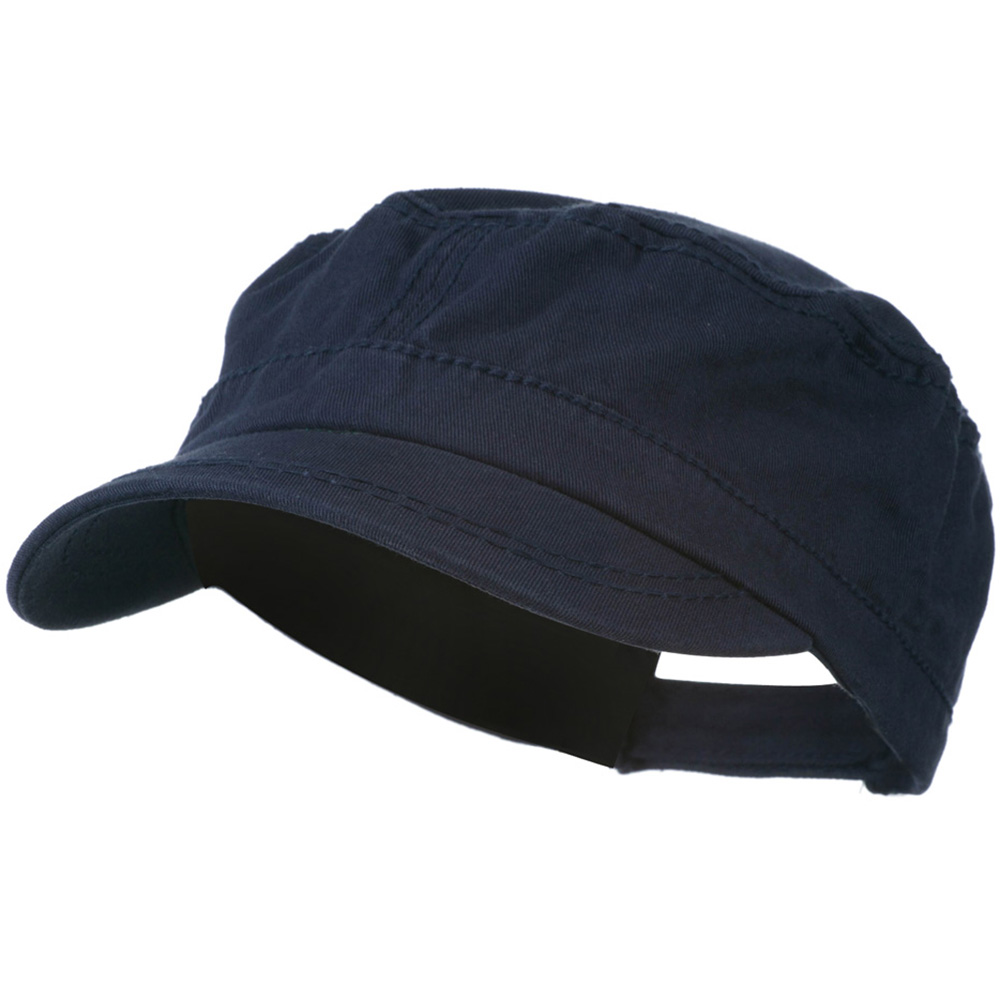 Colorful Washed Military Cap - Navy - Hats and Caps Online Shop - Hip Head Gear