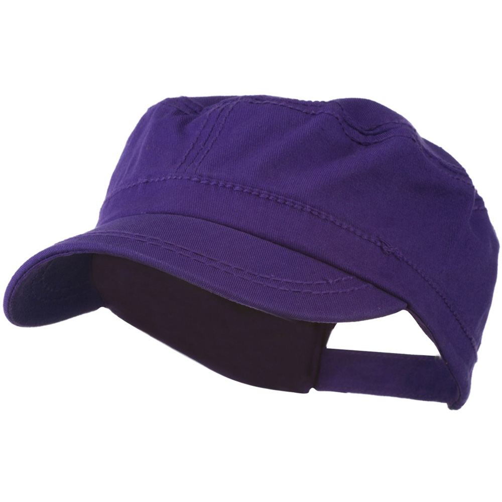 Colorful Washed Military Cap - Purple - Hats and Caps Online Shop - Hip Head Gear
