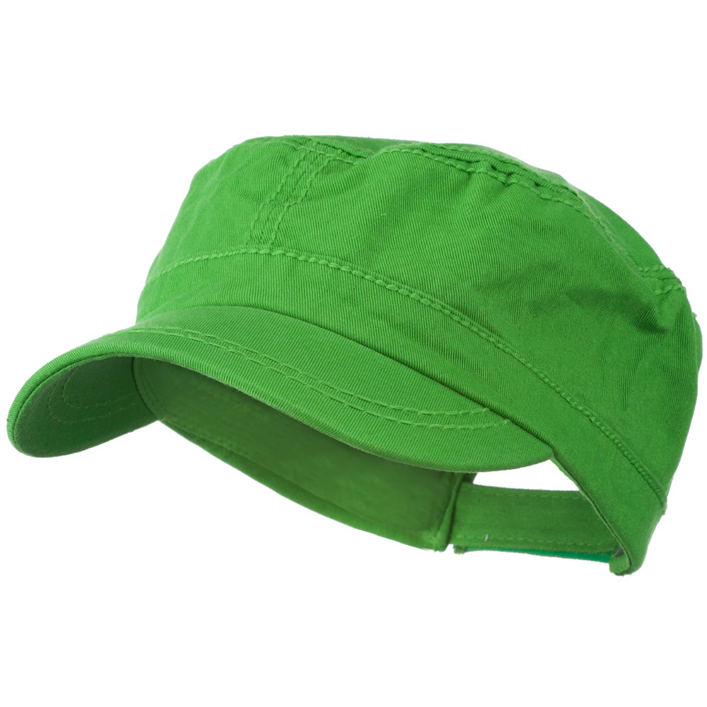 Colorful Washed Military Cap - Green - Hats and Caps Online Shop - Hip Head Gear