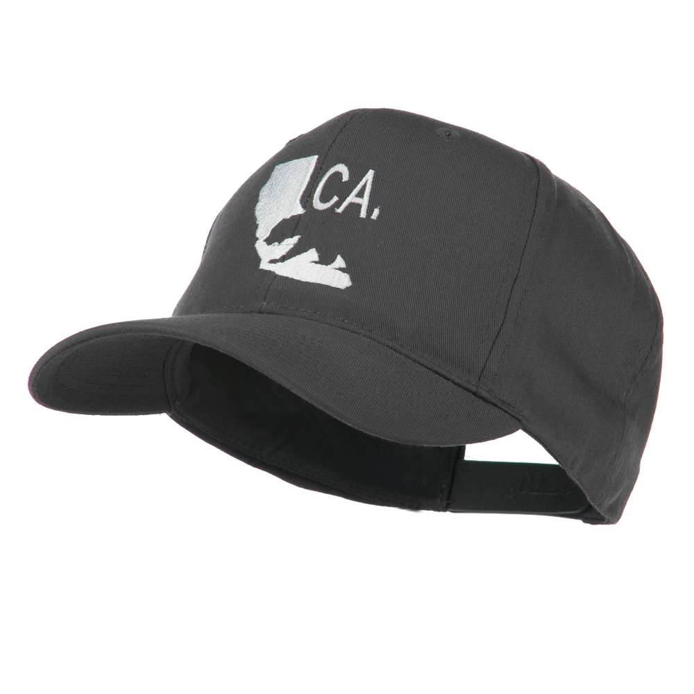 California with Bear Embroidered Cap - Grey - Hats and Caps Online Shop - Hip Head Gear