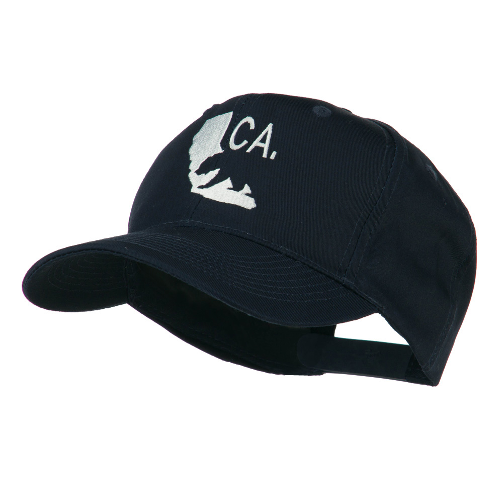 California with Bear Embroidered Cap - Navy - Hats and Caps Online Shop - Hip Head Gear