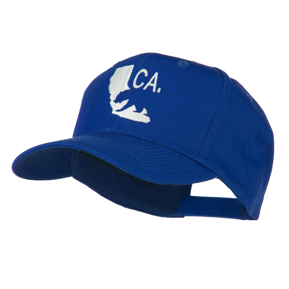 California with Bear Embroidered Cap - Royal - Hats and Caps Online Shop - Hip Head Gear