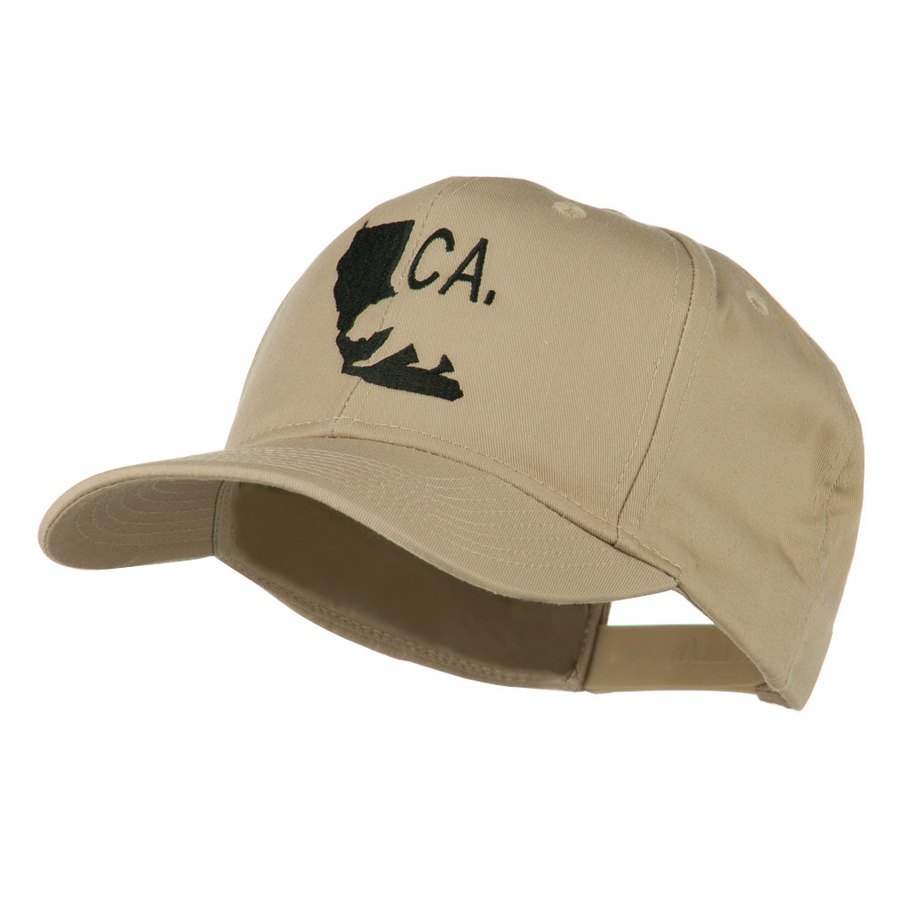 California with Bear Embroidered Cap - Khaki - Hats and Caps Online Shop - Hip Head Gear
