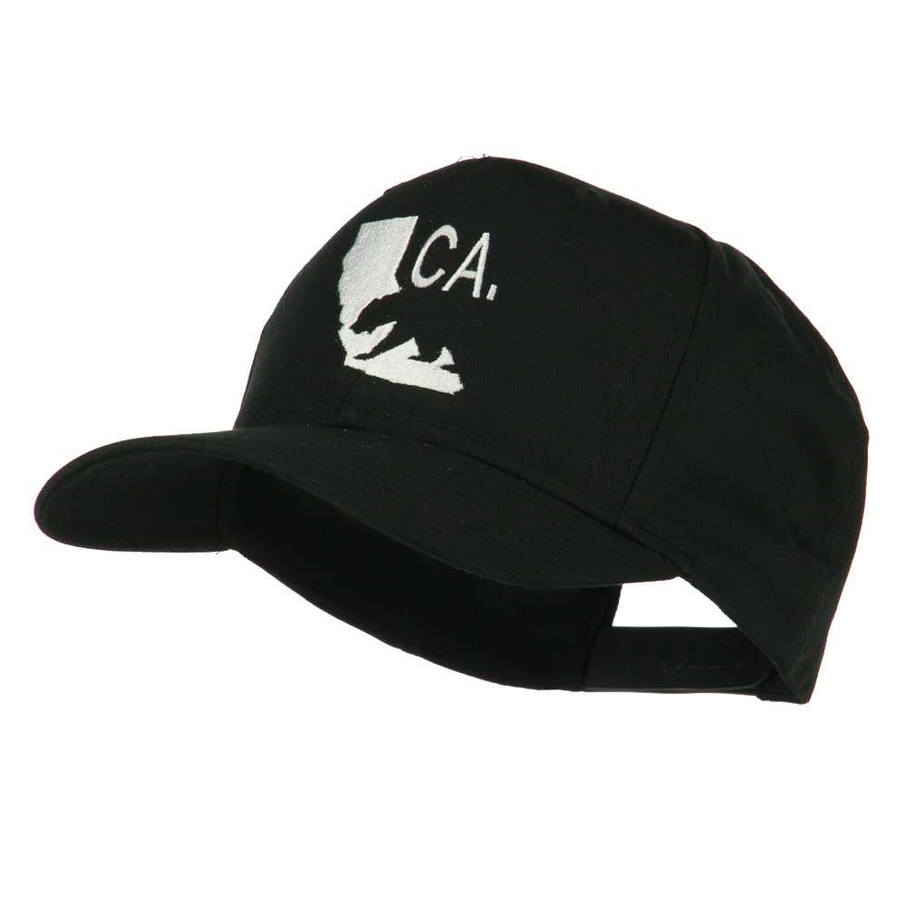California with Bear Embroidered Cap - Black - Hats and Caps Online Shop - Hip Head Gear