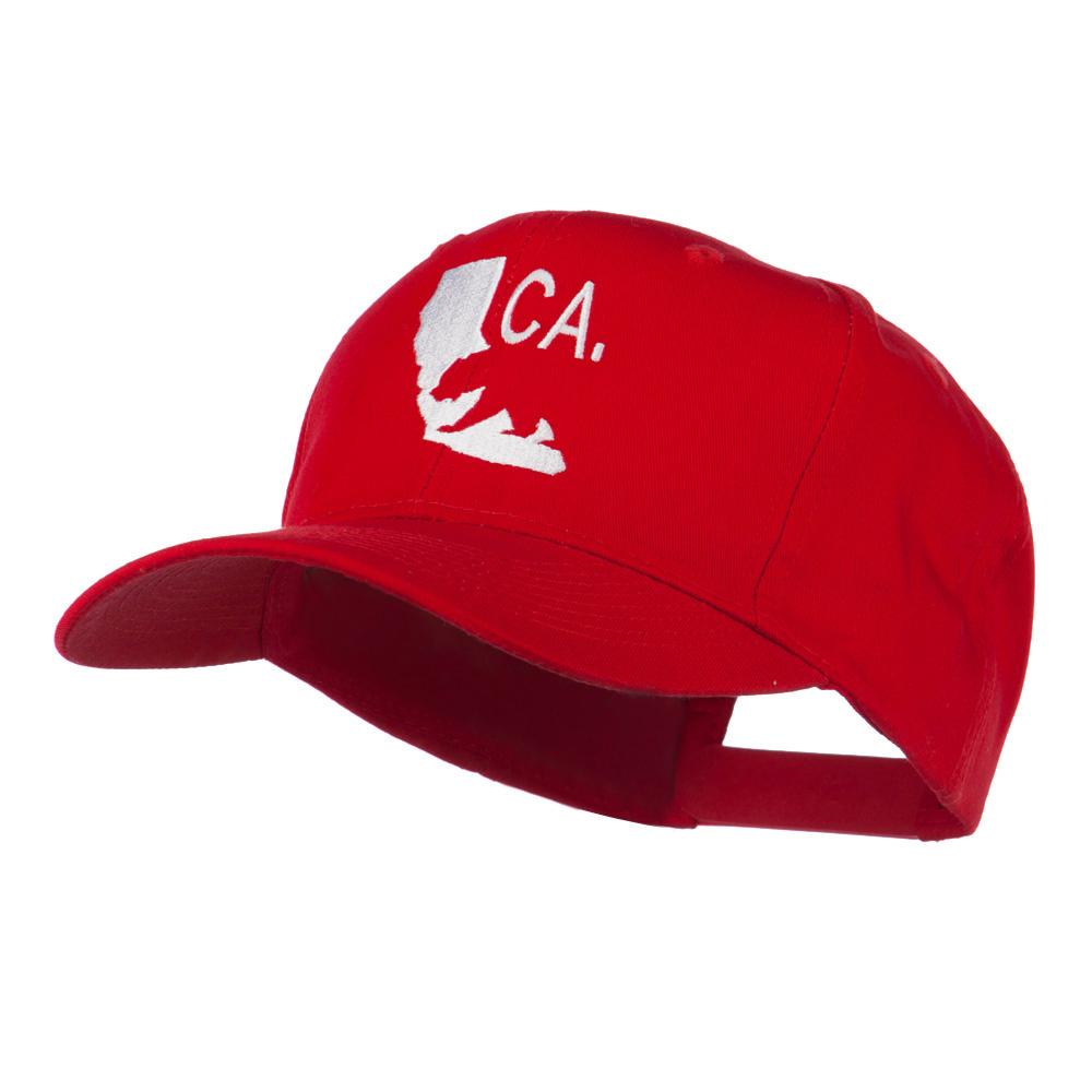 California with Bear Embroidered Cap - Red - Hats and Caps Online Shop - Hip Head Gear
