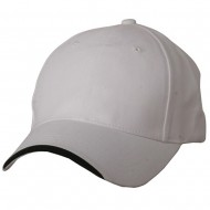 Deluxe Brushed Cotton Twill Caps-White Black