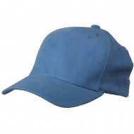Brushed Cotton Cap (one size)-Blue