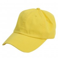 Normal Dyed Cap (02)-Yellow