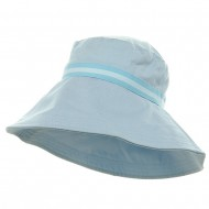 Rushed Canvas Wide Brim Hat - Light Blue