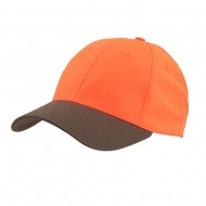 High Visibility Cap-Low Brown Neon Orange Plain