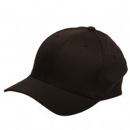Wooly Combed Twill Flexfit Cap-Brown