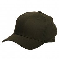 Wooly Combed Twill Flexfit Cap-Olive