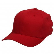 Wooly Combed Twill Flexfit Cap-Red