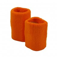 Wrist Band Pair (terry)-Orange