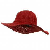 Ladies Hand Crocheted Hats-Red