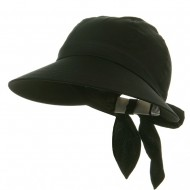 Solid Large Peak Hats-Black