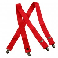 Main Stay Solid Suspender - Red