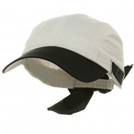 UV Ladies Moisture Absorbing Sweatband Cap - White Black