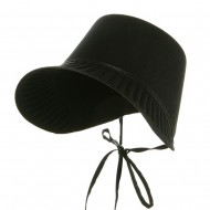 Thanksgiving Permafelt Pilgrim Bonnet-Black