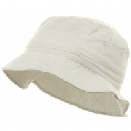 Youth Pigment Dyed Bucket Hat-White